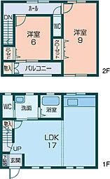 [テラスハウス] 奈良県橿原市地黄町 の賃貸【奈良県 / 橿原市】の間取り