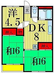 小宮マンションパート2[302号室]の間取り
