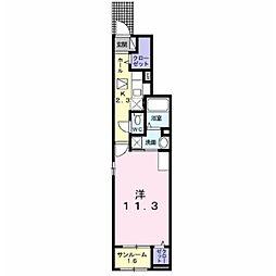 JR信越本線 篠ノ井駅 6.3kmの賃貸アパート 1階1Kの間取り