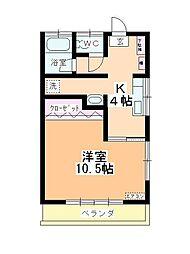 小川マンション[201号室]の間取り