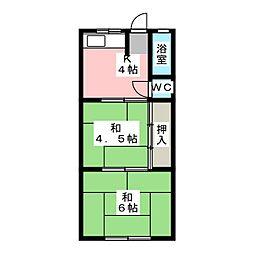 臥龍苑[2階]の間取り