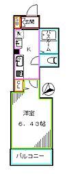 JR総武線 大久保駅 徒歩7分の賃貸アパート 2階1Kの間取り