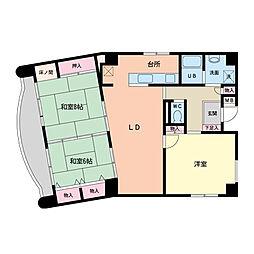 幸田マンション新深江[0901号室]の間取り