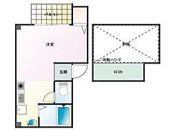 パイン神戸三宮[401号室]の間取り