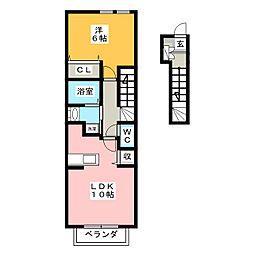 メゾンアルドーレA[2階]の間取り