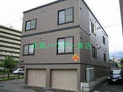北海道札幌市東区北十七条東10丁目の賃貸アパートの外観