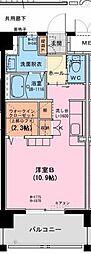ブライアントパーク大塚台 7階ワンルームの間取り