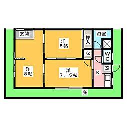 神田アパート[1階]の間取り