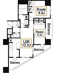 Dクラディア亀戸ブリエア[2階]の間取り