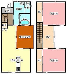 [一戸建] 静岡県浜松市中区佐藤2丁目 の賃貸【/】の間取り