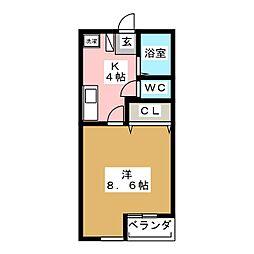 スリーコーポA[2階]の間取り