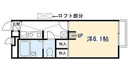 レオパレスKAMISHO[103号室]の間取り