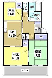 西ケ崎グリーンハイツII[1階]の間取り