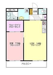 千草台谷本マンション[3階]の間取り