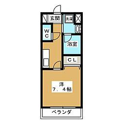 ベラジオ京都壬生 イーストゲート[4階]の間取り