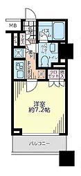 神奈川県横浜市中区日本大通の賃貸マンションの間取り