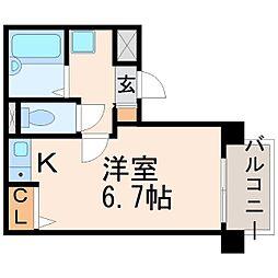 シャトル上野[2階]の間取り