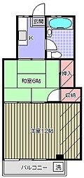 マンション牧野[3階]の間取り