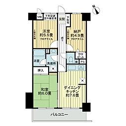 ライオンズマンション行田 弐番館[6階]の間取り