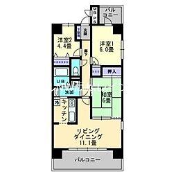 ダイアパレス太田第2[3階]の間取り