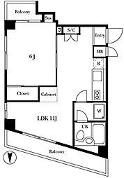 ドム桜新町[3階]の間取り