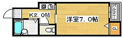 ミドウスジ堺Ⅰ[2階]の間取り