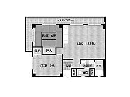 ハイツタケシ[402号室]の間取り