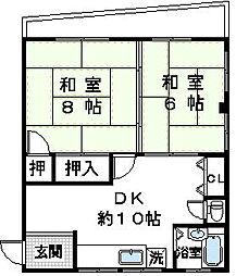 福富マンション[3階]の間取り