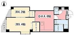 ヴェラヴィータ泉町III[202号室]の間取り