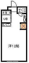サンケイマンション第8ビル[211号室]の間取り