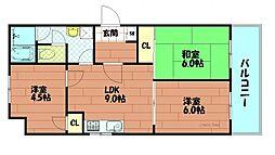 レック西長堀マンション[10階]の間取り