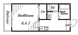 ピース幕張本郷[1階]の間取り