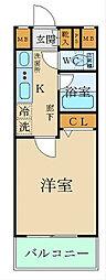 西武池袋線 椎名町駅 徒歩2分の賃貸マンション 2階1Kの間取り