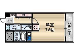 サンプラザ総持寺[6階]の間取り