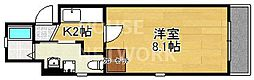 ドーリアNEXT花園[3-C号室号室]の間取り