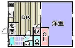 プラセール岸和田[405号室]の間取り