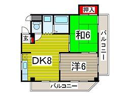 ハイツマエダI[2階]の間取り