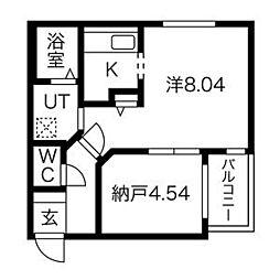 コローレ栄町[403号室]の間取り