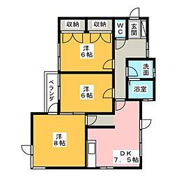 REGART佐鳴台[2階]の間取り
