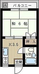 青山マンション[309号室]の間取り