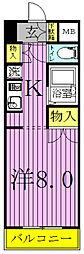 高野山第一ビル[404号室]の間取り