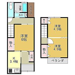 奈良県大和高田市土庫2丁目の賃貸アパートの間取り