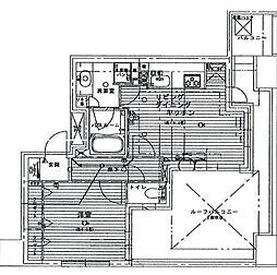 ライオンズステーションプラザ横濱プリマゾーナ[6階]の間取り