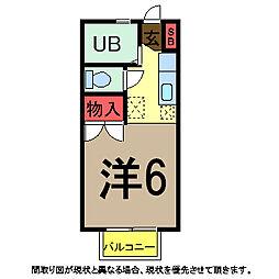 若松ハイツ3[2階]の間取り