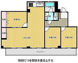 愛知県名古屋市千種区鹿子町6丁目の賃貸マンションの間取り