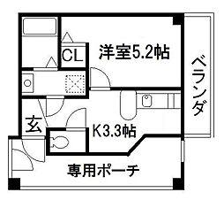 リーフジャルダンレジデンスタワー[5階]の間取り