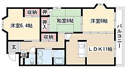 愛知県名古屋市緑区藤塚1丁目の賃貸マンションの間取り