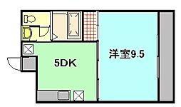 ハートD[3階]の間取り