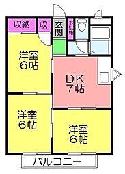 シティハイツ南澤[101号室]の間取り