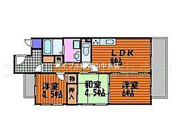 サーパス西古松I[3階]の間取り